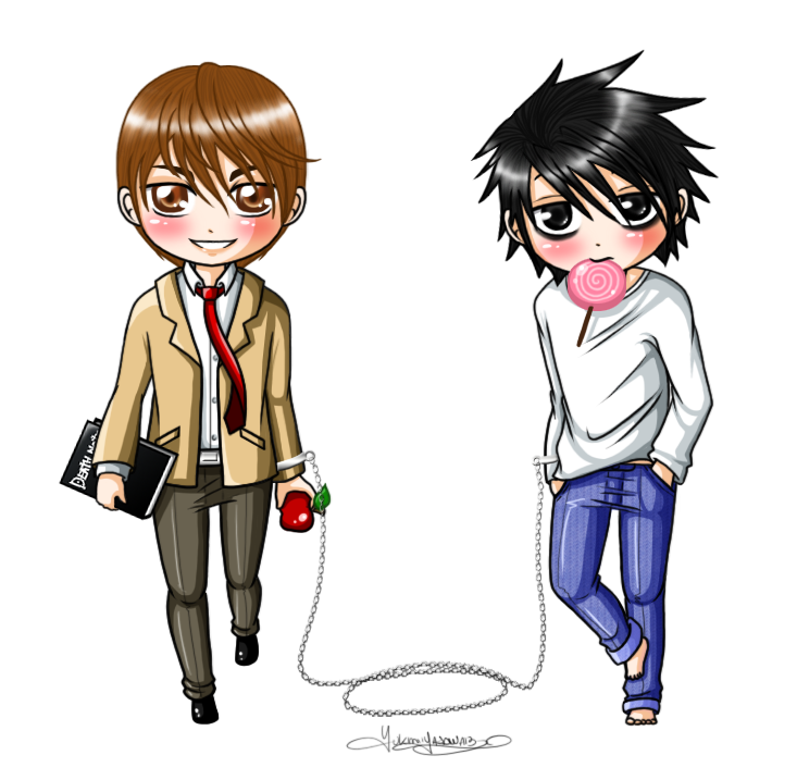 death note light and l chibi - photo #39