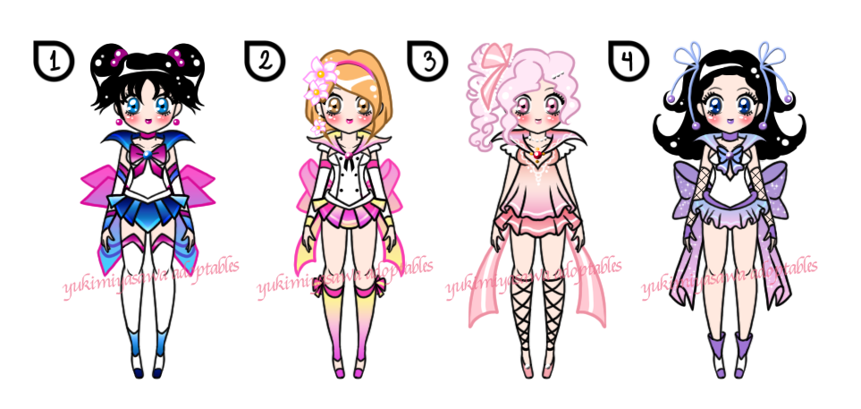 Sailor Senshi Batch Adoptables CLOSED by YukiMiyasawa