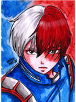 Todoroki watercolors by YukiMiyasawa