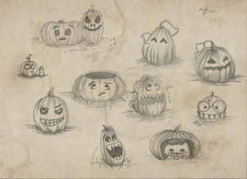 Pumpkins by RazSketch
