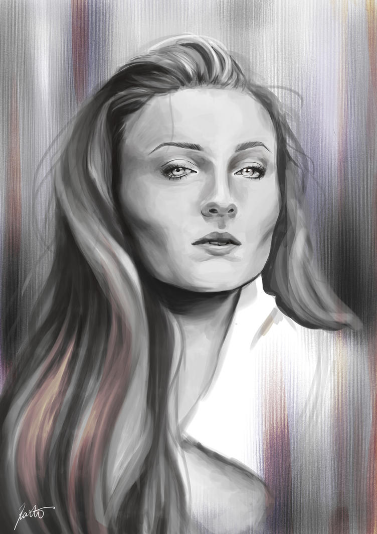 Sophie Turner by RazSketch