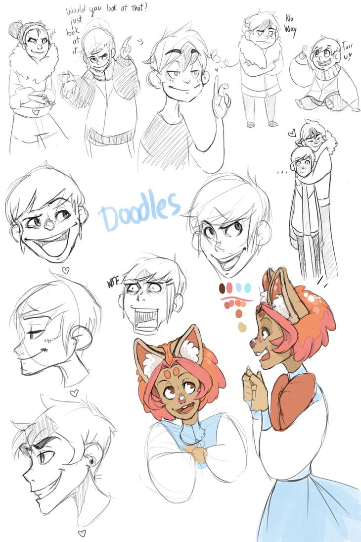 OC doodles by Menxu