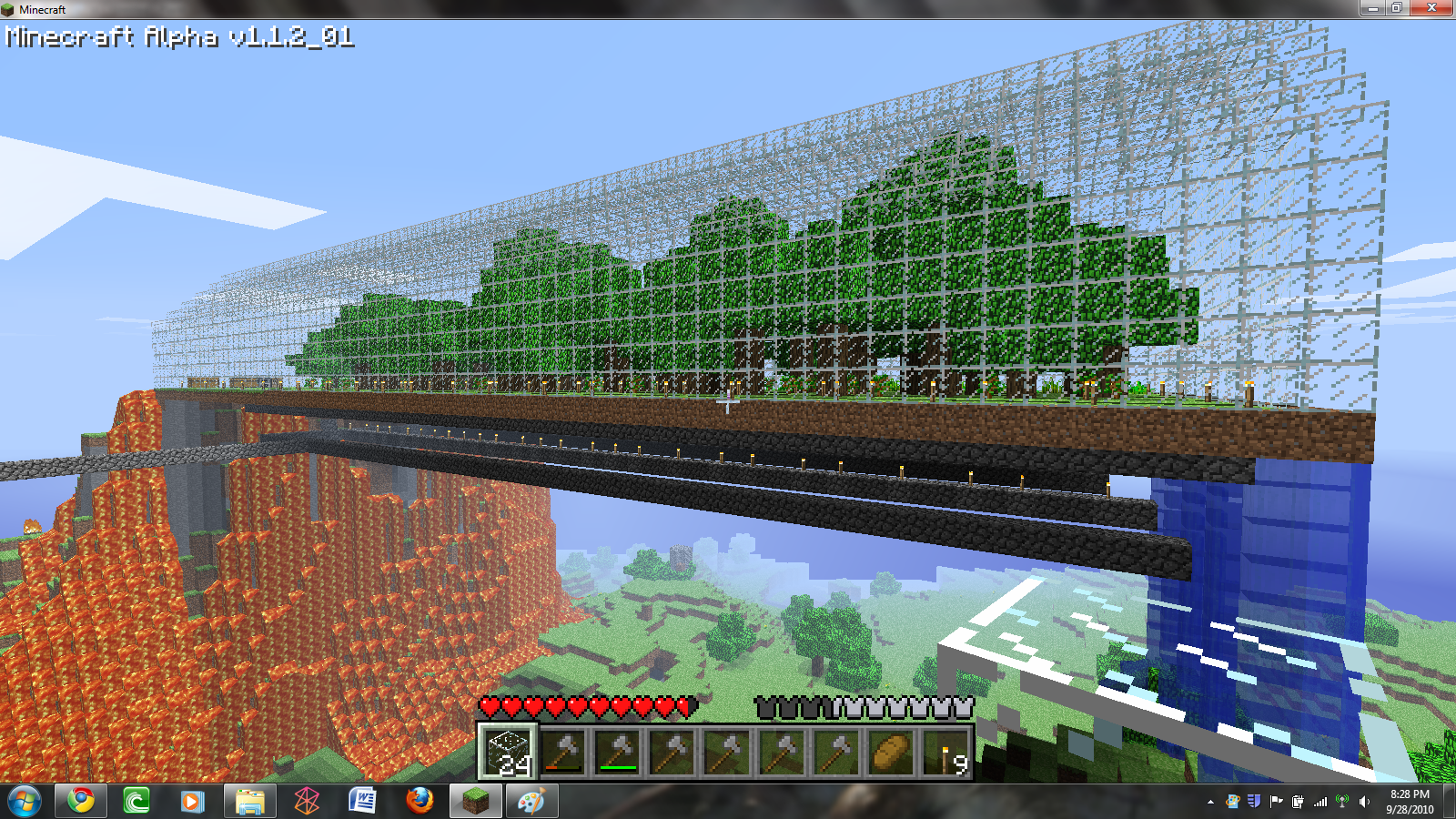 making a dome in minecraft for pinterest
