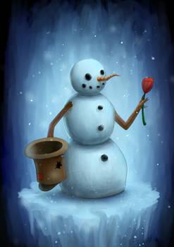 Snowman Character Concept Art