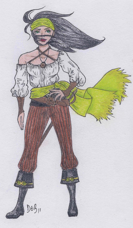 Female pirate drawing - photo#29