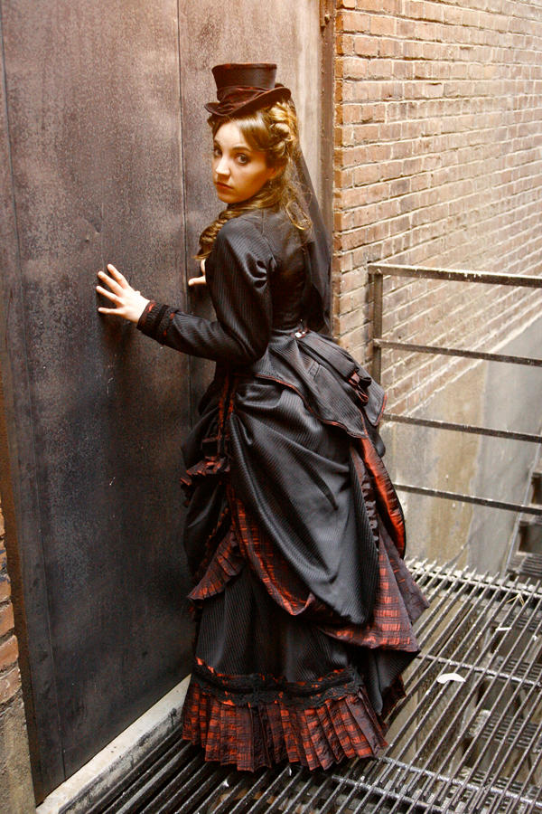 1880 39 s bustle dress back by opergeist on deviantart - Late victorian wallpaper ...