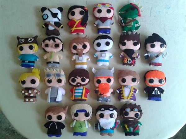 Yogscast Dolls Completed by azay04 on DeviantArt
