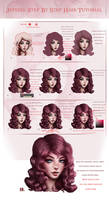 Curvy Hair Tutorial Step by Step by JePixel