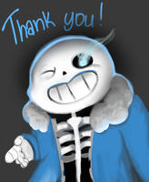 Thank you for 2K Watchers | Sans by JePixel