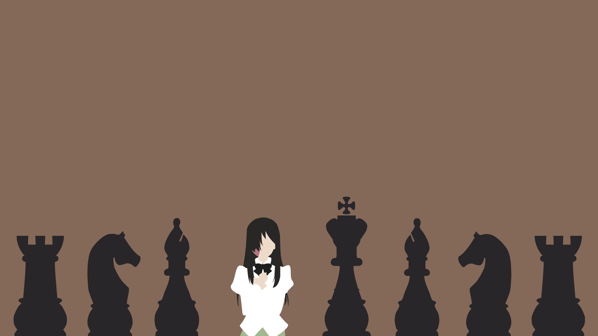 Hanako chess minimalist vector wallpaper by mikeandike020 for Minimal art vector