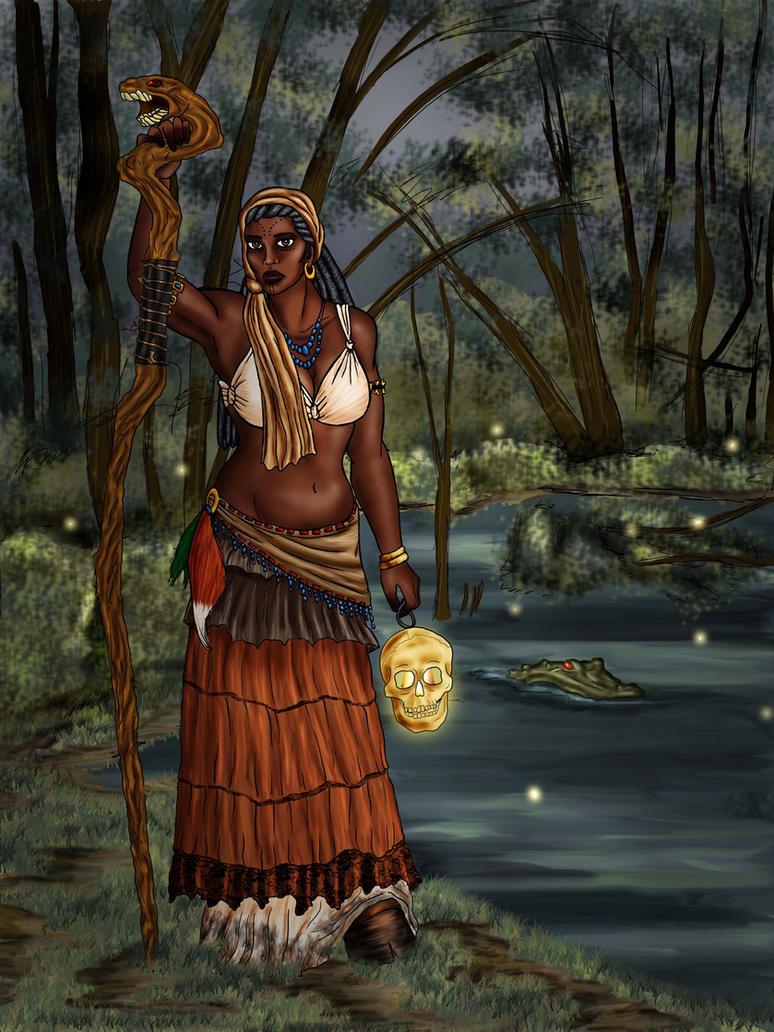 Voodoo Priestess by MonkeyDragon