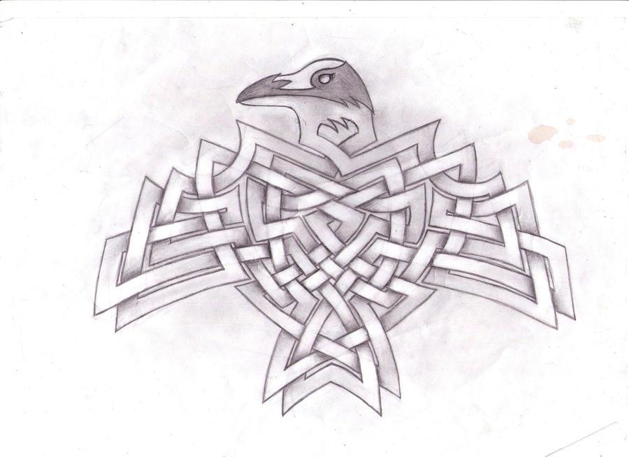 corvus corax by Graenfur