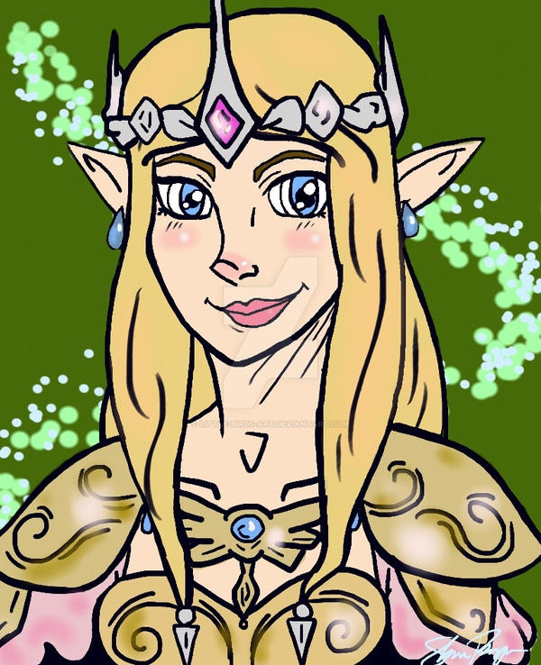 Zelda - Graceful Warrior by Little-Birds-Art