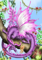 Agaave's Colored Pixie Dragon by NuttyNuti