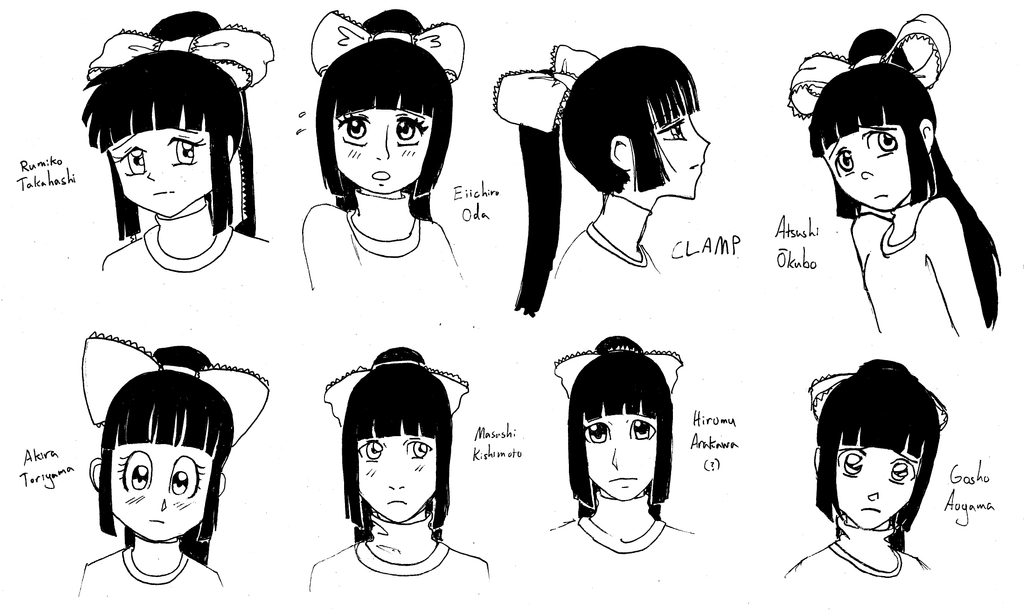 HT: Ginka And Different Manga Styles By NuttyNuti On