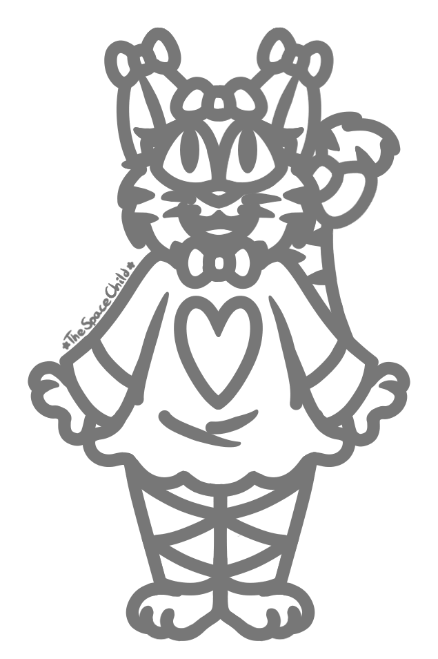 Sketch Of A Cutesy Catgirl I Designed When I Was 7 By The Space Child On Deviantart