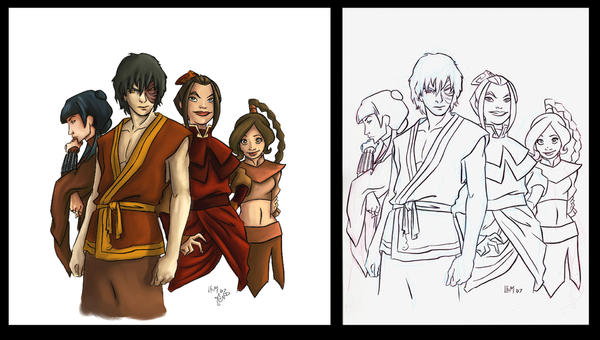 Fire_Nation_COLORED by CleverFoxImages