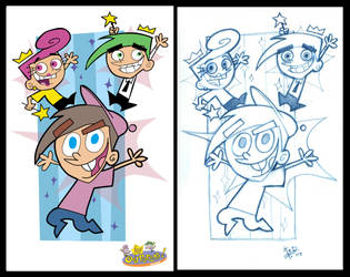 Fairly OddParents_Colored by CleverFoxImages