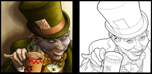 Mad_Hatter_COLORED by CleverFoxImages