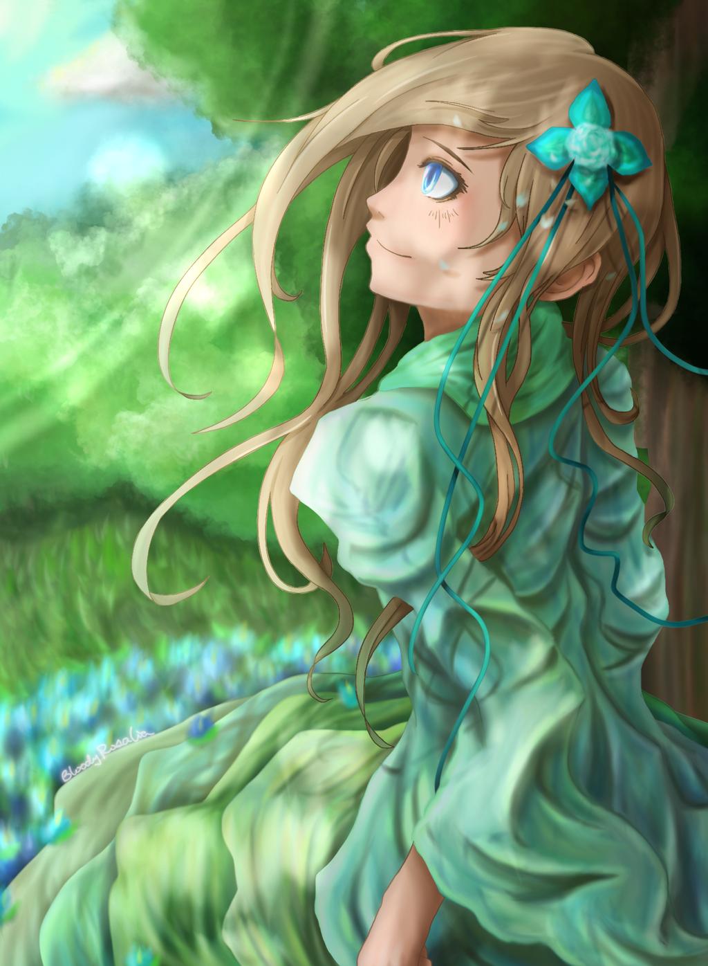 Emerald Garden by BloodyRosalia
