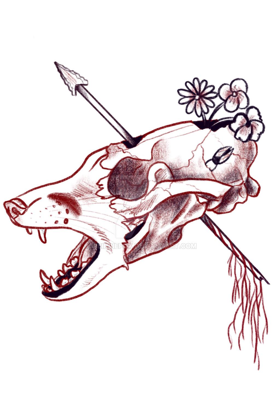 Fox skull by weirdiefox