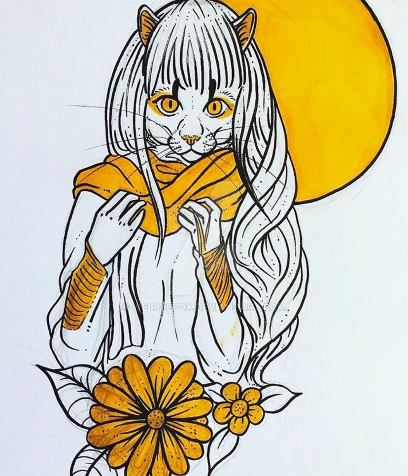 catgirl by weirdiefox