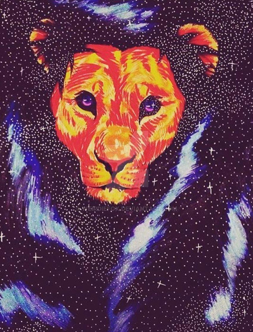 lion zodiac by weirdiefox