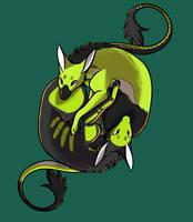 Commission - Fein Dragons by weirdiefox