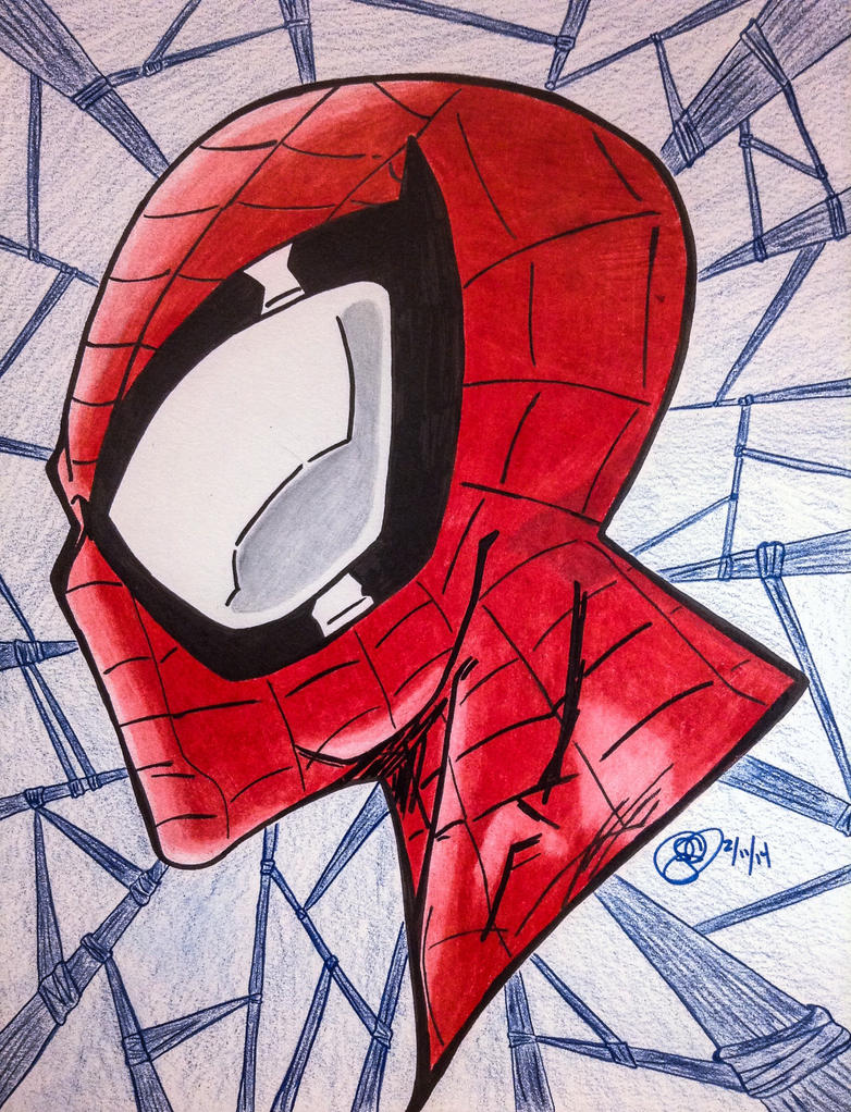 Spiderman: Head profile by JCecalaIV