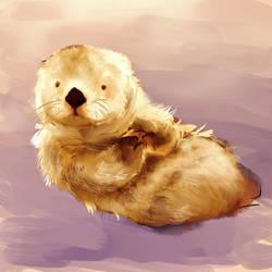 sea otter by Yuforin