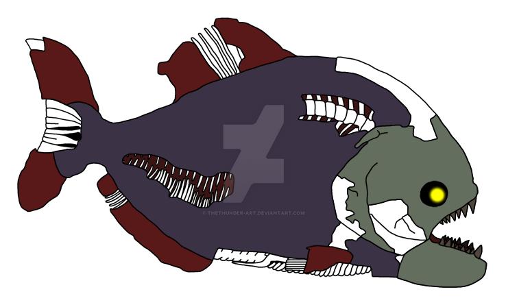 Piranha Zombie by TheThunder-Art