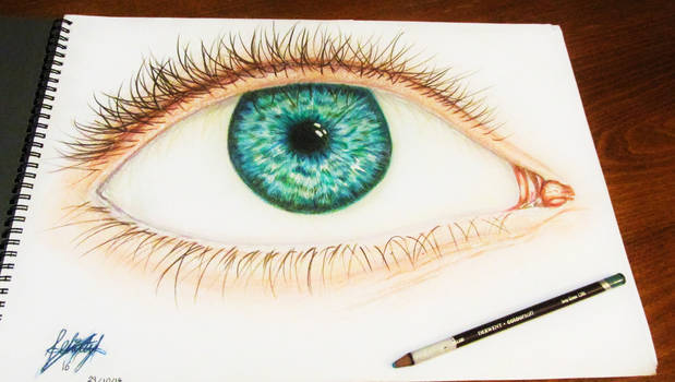 Eye drawing in colour