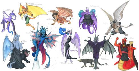 Disney Villain Gargoyles by Nebulan