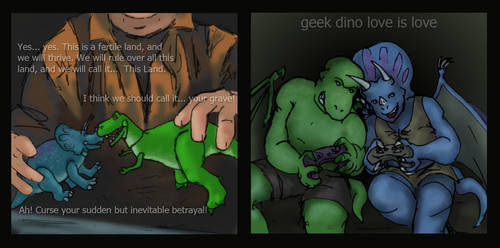 Rex and Trixie by Nebulan