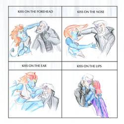 Kiss Meme - Demona and Macbeth