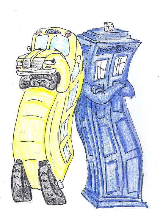 Magic School Bus Drawing Magic School Bus And Tardis by