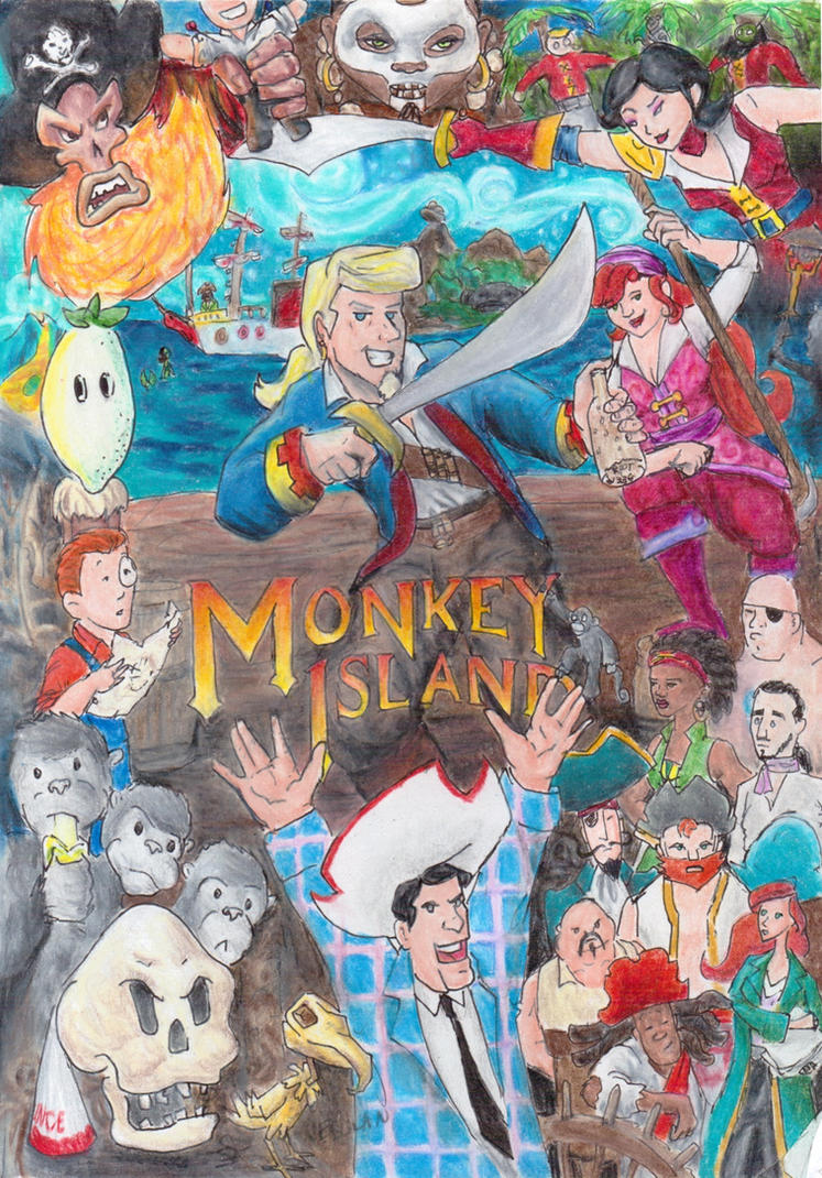 Monkey Island by Nebulan