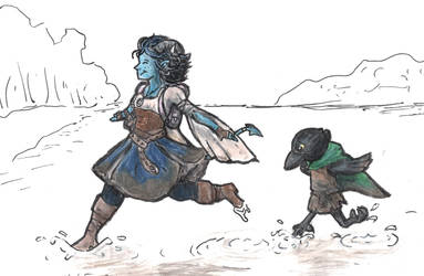 Jester and Kiri in the swamp