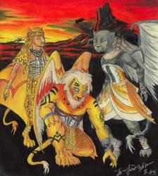 Lion King Gargs on Broadway by Nebulan