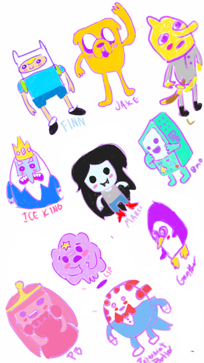 sketchy Adventure time by Torissa