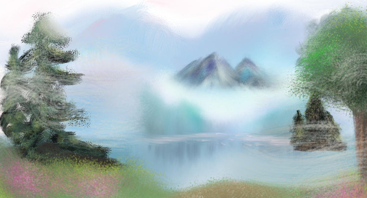 Misty Mountain Lake by Torissa
