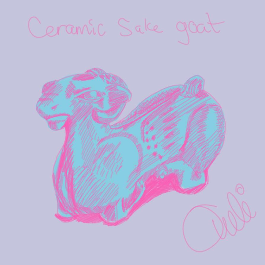 ceramic sake goat  by Torissa