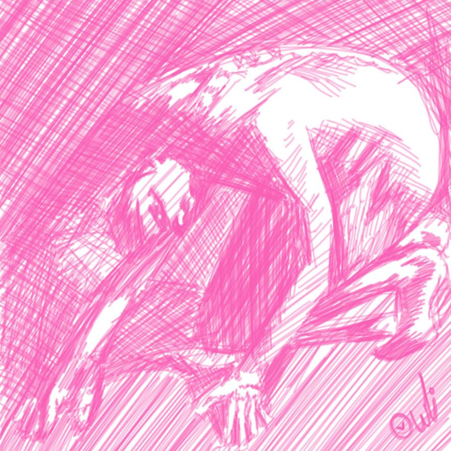 cross hatch human form by Torissa