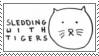 Sledding With Tigers Stamp by CarryOnLostFriends