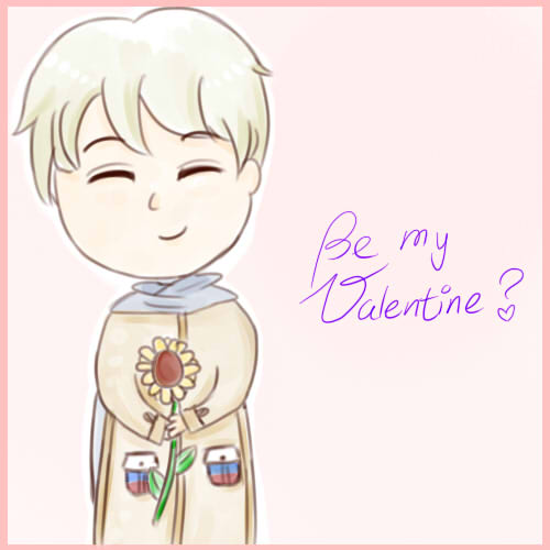Be my Valentine? *APH-Russia* by MischievousRibbon