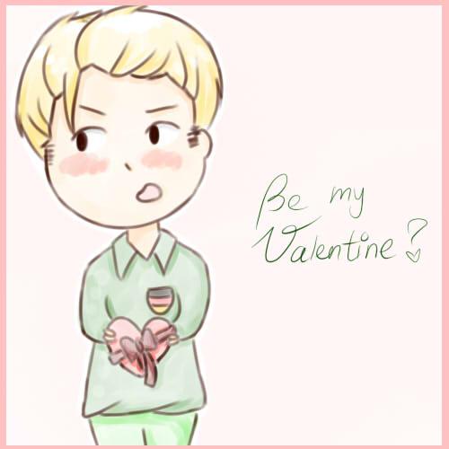 Be my Valentine? *APH-Germany* by MischievousRibbon