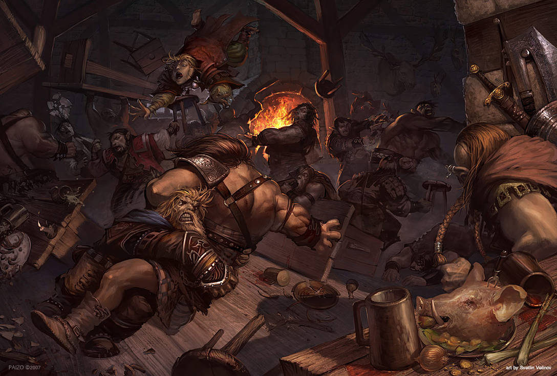 Tavern Brawl by velinov on DeviantArt