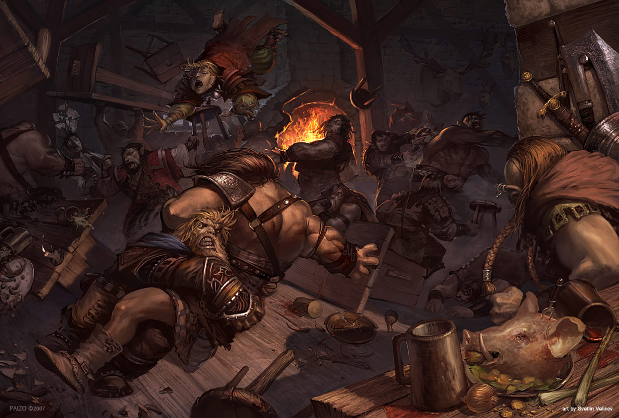 Tavern Brawl by velinov