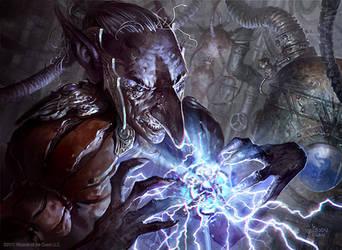 Goblin Electromancer by velinov