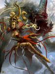 Female Sorcerer and Phantom Beast 2